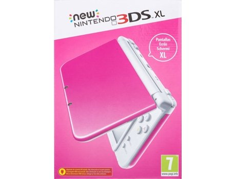 Consola Nintendo New 3DS XL Rosa/Branco — 4 GB / WI-FI