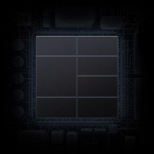 Imagem simulada do processador móvel avançado