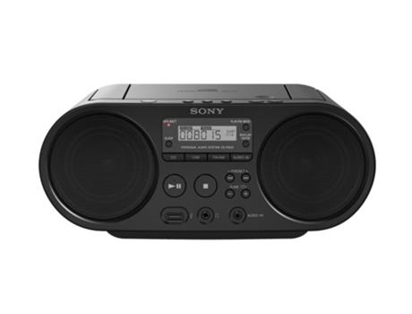 Rádio Boombox CD SONY Zs-Ps50 (Preto - Digital - AM/FM - Bateria) | [5569615 ]