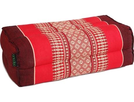 Almofada Ioga e Meditação ANADEO Standard Fibra 100% Natural de Alta Densidade Vermelho Borgonha - X1