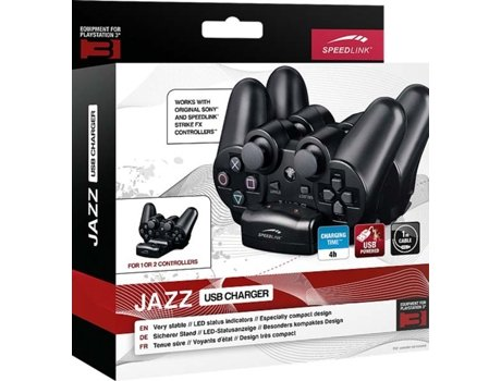 Carregador P/ Comando PS3 JAZZ USB Preto — PS3