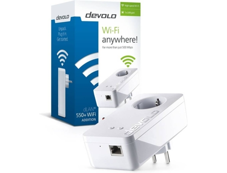 POWERLINE DEVOLO DLAN550+ WIFI N300 SINGLE PT-9832 — 200/500 Mpbs
