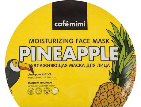 Máscara de Rosto CAFÉ MIMI Hidratante em Folha Amarelo (22 gr)