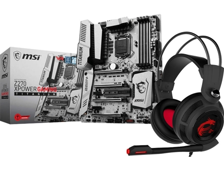 Motherboard MSI Z270 XPOWER GAMING TITANIUM  Kabylake + Auscultadores DS502 GAMING — LGA1151 | Intel® Z270 | Auscultadores