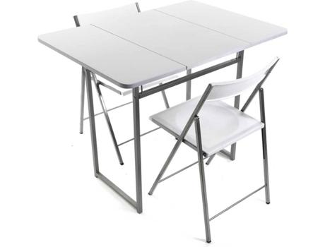 Mesa 2 Cadeiras Versa Branca Wortenpt