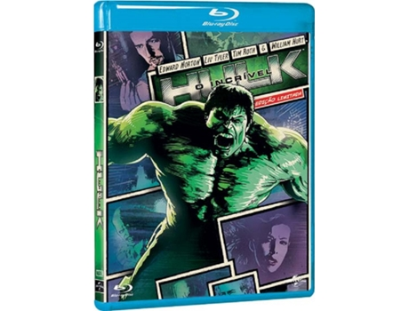 Blu-Ray O Incrivel Hulk - Heróis do Cinema — De: Louis Leterrier | Com: Edward Norton,Liv Tyler,Tim Roth,William Hurt,Peter Mensah