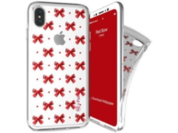 Capa I-PAINT Trendy Iph8 Red Bow — Compatibilidade: iPhone X