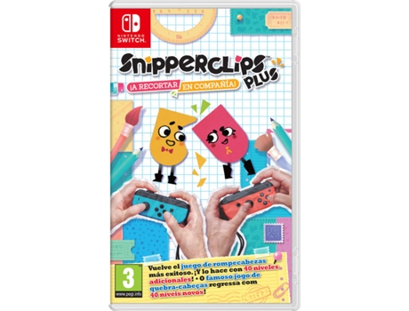 Jogo Switch Snipperclips Plus: Cut it out, together! — Familiar | Idade mínima recomendada: 3