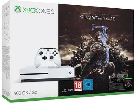Consola XBOX One S 500GB + Middle-earth: Shadow of War — 500GB