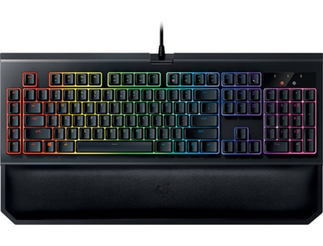 Teclado Gaming Mecânico Green Switch Blackwido Chroma V2 Preto — Preto