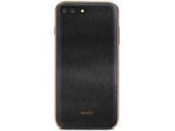 Capa MOSHI iGlaze iPhone 7 Plus, 8 Plus preto — Compatibilidade: iPhone 7 Plus, 8 Plus