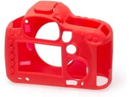Capa de silicone EASYCOVER Canon 5D MARK III/ 5DS R / 5DS  Vermelho — Compatibilidade: Canon 5D MARK III/ 5DS R / 5DS