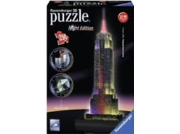 Puzzle 3D RAVENSBURGER Empire State Building (Night Edition) — Adulto