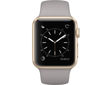 APPLE Watch Series 1 38 mm Dourado, Cinza — Bluetooth 4.0 e Wi-fi | 205 mAh | iOS