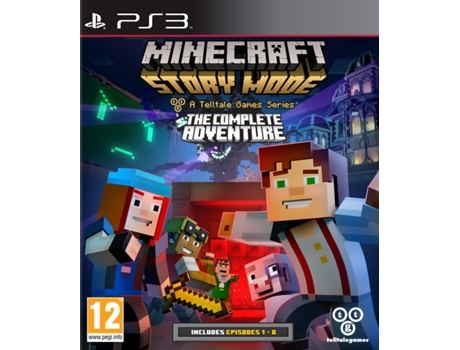 Jogo PS3 Minecraft Story Mode - The Complete Adventure