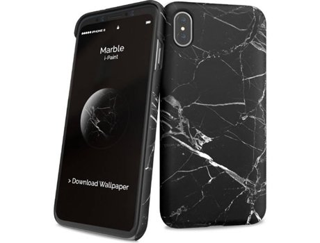 Capa I-PAINT Hard Iph8 Marble Black — Compatibilidade: iPhone X