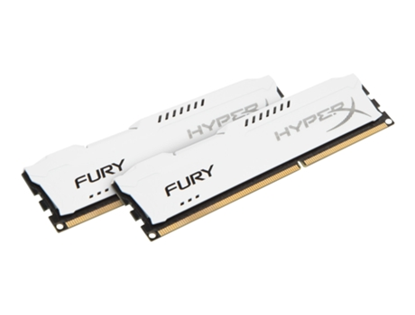 Memória RAM DDR3 2x4GB 1866 MHz CL10 HyperX FURY White Series — 2 x 4 GB / 1866 MHz / DDR3