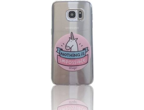 Capa MR. WONDERFUL Unicórnio Samsung Galaxy S7 Multicor — Compatibilidade: Samsung Galaxy S7