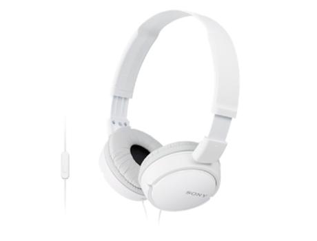 Auscultadores Com fio SONY MDRZX110 (On Ear - Microfone - Branco) | [5424164 ]