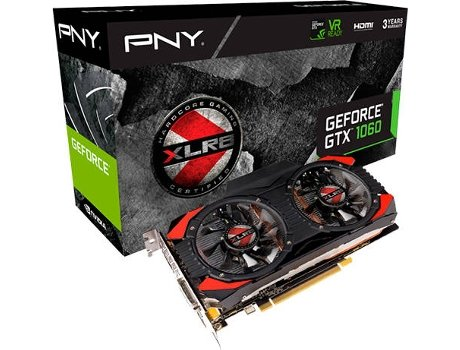 Placa Gráfica PNY GeForce GTX 1060 OC GAMING