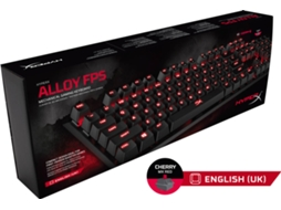 Teclado Gaming HYPER X Alloy FPS (USB- Layout US - Switch Cherry MX Red) — Com fio USB | Mecânico | Teclas WASD | Switch Cherry MX Red | Iluminado