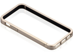 Capa e Película JUST MOBILE Bumper iPhone 5, 5s, SE Dourado — Compatibilidade: iPhone 5, 5s, SE