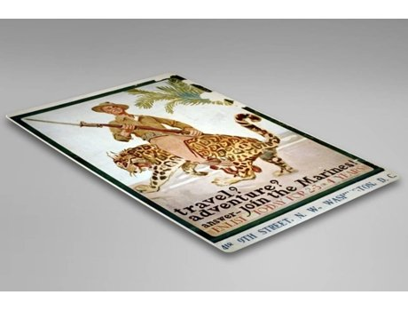 Placa Decorativa LEGENDARTE Publicidade Travel? Adventure? Answer - Join the Marines! (30x40 cm)