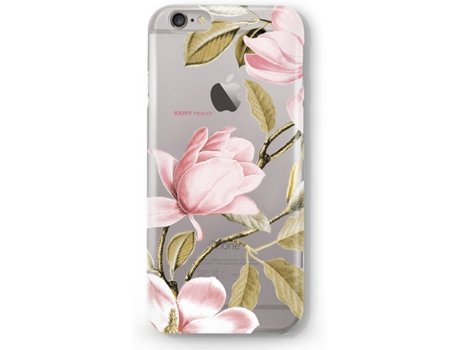 Capa HAPPY FRIDAY Flores iPhone 6, 6s Rosa — Compatibilidade: iPhone 6, 6s