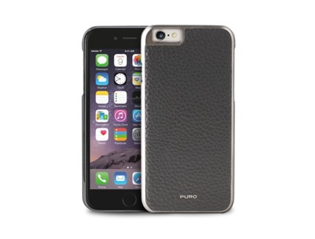 Capa iPhone 6 5.5'' Pele PURO Grey — Capa / iPhone 6 5.5''