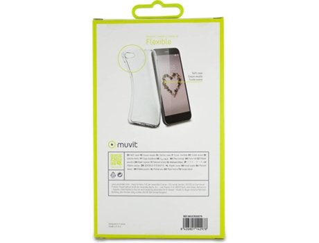 Capa MUVIT Crystal Soft ZTE Blade A512 Transparente — Compatibilidade: ZTE Blade A512