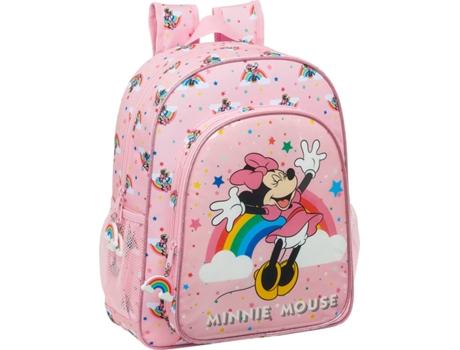 Mochila Escolar Minnie Mouse Cor de Rosa