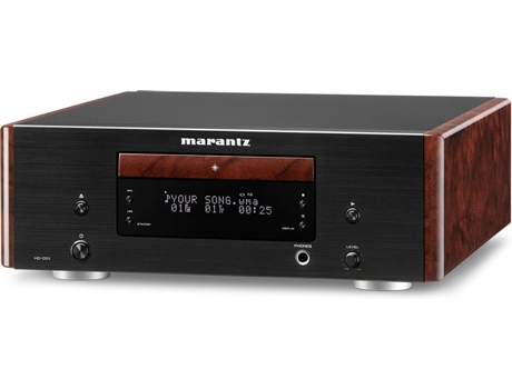 Leitor CD Premium MARANTZ HD-CD1 Preto — WMA, MP3 / Consumo: 14W