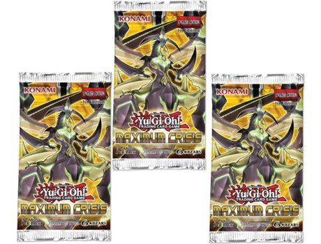3 Packs de 9 Cartas YU-GI-OH! Maximum Crisis — 3 boosters de 9 cartas cada