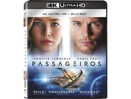 Blu-Ray 4K + Blu-Ray Passageiros — De: Morten Tyldum | Com:  Jennifer Lawrence, Chris Pratt, Michael Sheen