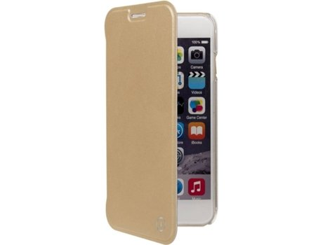 Capa MUVIT Book iPhone 6, 6s, 7, 8 Dourado — Compatibilidade: iPhone 6, 6s, 7 ,8