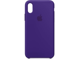 Capa APPLE iPhone X Silicone Roxo — Compatibilidade: iPhone X