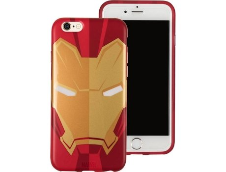 Capa TRIBE Marvel Iron Man iPhone 6, 6s, 7, 8 — Compatibilidade: iPhone 6, 6s, 7, 8