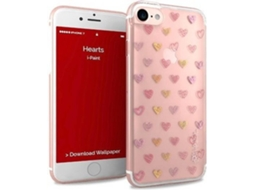 Capa iPhone 6, 6s, 7, 8 I-PAINT Glamour Case Rosa — Compatibilidade: iPhone 6, 6s, 7 ,8