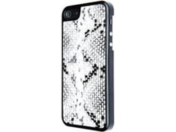 Capa VCUBED3 Eco-Leather Snak iPhone 5, 5s, SE Branco — Compatibilidade: iPhone 5, 5s, SE