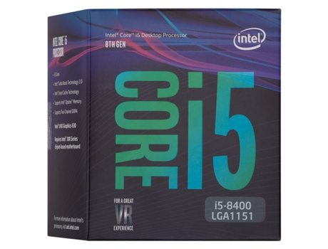 Processador INTEL-Core i5-8400 (Socket LGA1151 - Hexa-Core - 2.8 GHz) — Intel Core i5-8400 | Socket 1151