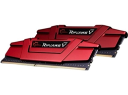 Memória RAM GSKILL 2X8GB DDR4 RIPJAWS V RED — 2x8GB / 3000MHz / DDR4