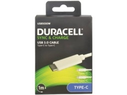 Cabo DURACELL Type C - Type C 3A 1m — Type C - Type C | 1 m