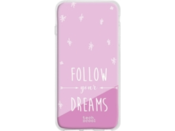 Capa Realme 3 Pro TECHCOOL Follow your dreams Rosa