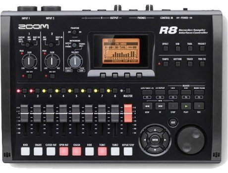 Gravador Digital ZOOM R8 — Kit Gravador/interface/Controlador/Sampler