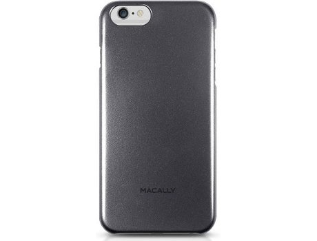 Capa MACALLY Metallic Snap-on iPhone 6 Plus, 6s Plus Preto — Compatibilidade: iPhone 6 Plus, 6s Plus