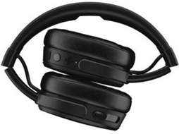 Auscultadores Bluetooth SKULLCANDY Crusher Bluetooth Wireless em Preto — 10-20.000 Hz | 32 ohms | 90 dB