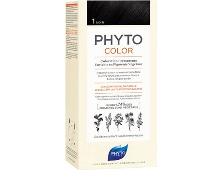 Coloração PHYTO Phytocolor 1 Preto Coloração Permanente Sem Amoníaco