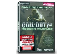 Jogo PC Call of Duty 4 Modern Warfare ((GOTY Edition -M16) — FPS | Idade mínima recomendada: 16