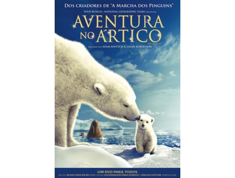 DVD Aventura no Ártico — De: Adam Ravetch, Sarah Robertson | Com: Queen Latifah (Narrador)
