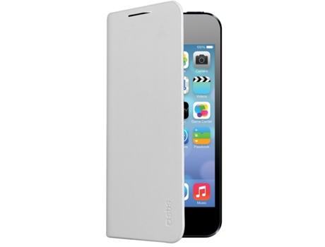 Capa SBS Book Slim iPhone 5, 5s, SE Branco — Compatibilidade: iPhone 5, 5s, SE